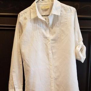 Isabella Sinclair white linen shirt